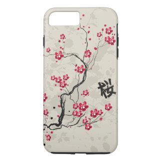 Arte oriental de la flor de cerezo de Sakura del Funda iPhone 7 Plus