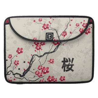 Arte oriental de la flor de cerezo de Sakura del Funda Para Macbook Pro