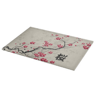 Arte oriental de la flor de cerezo de Sakura del Tablas Para Cortar
