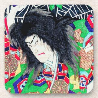 Arte oriental fresco de Japón del actor de Yoshito Posavasos De Bebidas