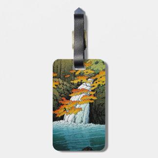 Arte oriental fresco de la cascada de Kawase Senju Etiquetas Para Maletas