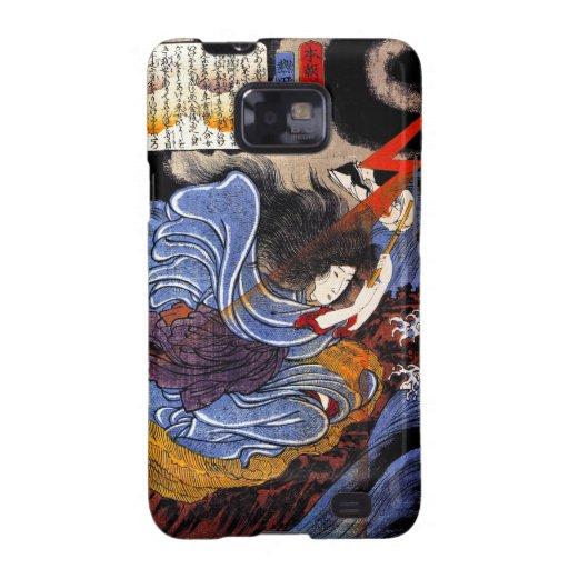 Arte oriental fresco de la diosa de Kuniyoshi del Galaxy SII Funda