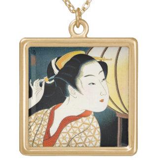 Arte oriental fresco de la señora del geisha de Ta Grimpola Personalizada