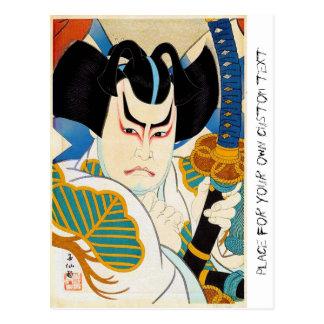 Arte oriental fresco del actor de Shunsen Kabuki Tarjetas Postales