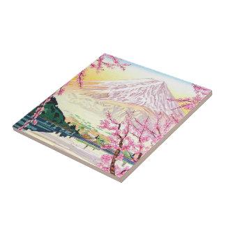 Arte oriental fresco del cerezo de la primavera de azulejo cuadrado pequeño