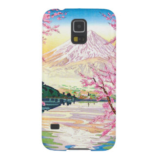 Arte oriental fresco del cerezo de la primavera de carcasa galaxy s5