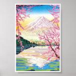 Arte oriental fresco del cerezo de la primavera de impresiones