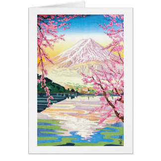 Arte oriental fresco del cerezo de la primavera de tarjeta pequeña