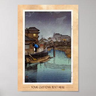 Arte oriental fresco del día lluvioso de Kawase