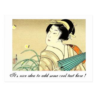 Arte oriental fresco del geisha de Kasane del japo Tarjetas Postales
