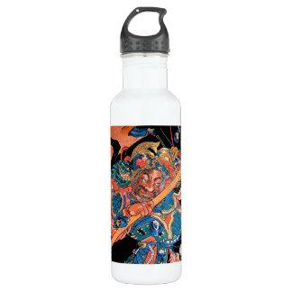 Arte oriental fresco del guerrero de Kunioshi