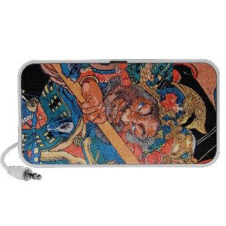 Arte oriental fresco del guerrero de Kunioshi Suik Altavoces