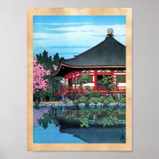 Arte oriental fresco del templo de Daigo Denpo del Poster
