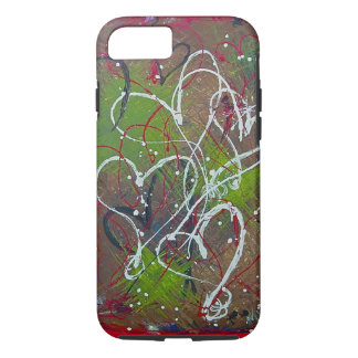 Arte original abstracto 6/6s de los corazones funda iPhone 7