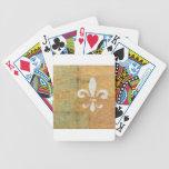 Arte original blanco en colores pastel de la flor  barajas de cartas