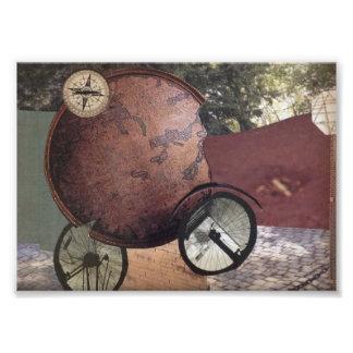 Arte original caprichoso de Steampunk del vehículo Cojinete