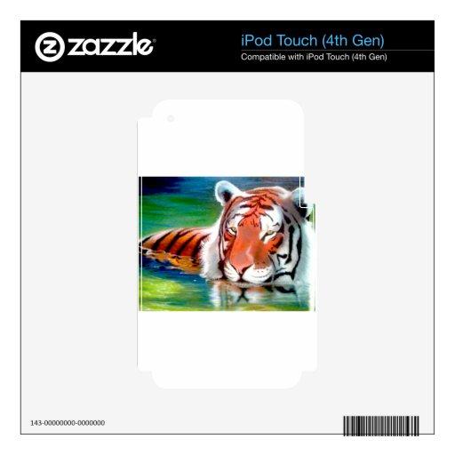 Arte original de encargo airbrushed tigre de la va iPod touch 4G skins