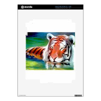 Arte original de encargo airbrushed tigre de la va skins para eliPad 2