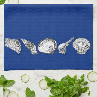 Arte original de la colección del Seashell Toallas De Cocina