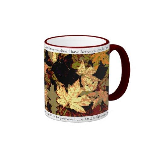 Arte original de la foto del mosaico de la hoja de taza de café