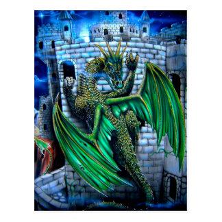 Arte ORIGINAL de la original de los dragones del Postal