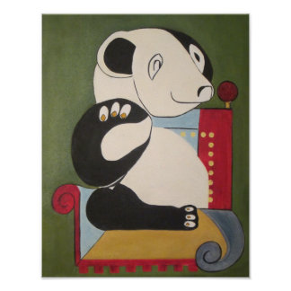 arte original de la panda por zooberhood póster