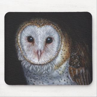 Arte original de la pintura del pájaro de la lechu alfombrillas de ratones