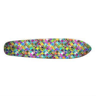arte original de la teja de mosaico de los años 90 monopatín personalizado