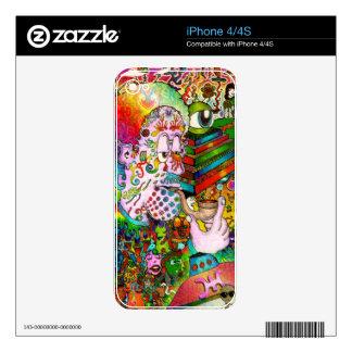 """Arte original del """"accidente de Caída-Pensamiento"""" Skins Para iPhone 4"""