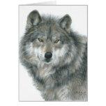 """Arte original en blanco del lobo de los """"ojos frec"""