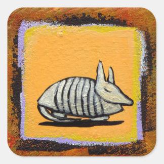 Arte original lindo de la diversión de los pegatina cuadrada