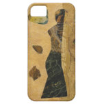 Arte original negro de la figura femenina del oro iPhone 5 Case-Mate cárcasa