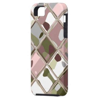 Arte original rosado de Camo para el caso de encar iPhone 5 Cárcasas