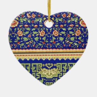 Arte ornamental chino del vintage adorno de cerámica en forma de corazón