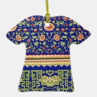Arte ornamental chino del vintage adorno de cerámica en forma de camiseta