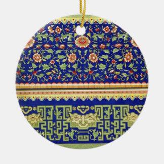 Arte ornamental chino del vintage adorno redondo de cerámica