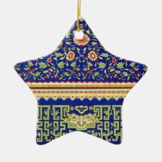 Arte ornamental chino del vintage adorno de cerámica en forma de estrella