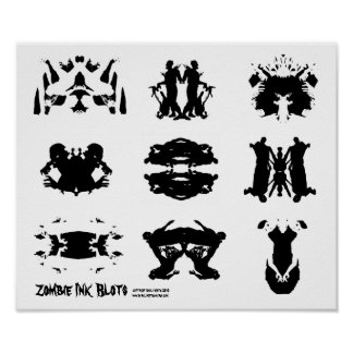 Arte oscuro de la psicología de Rorschach de la ma Posters