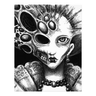 """Arte oscuro de """"Lizzy"""" de Laura Moran Membretes Personalizados"""