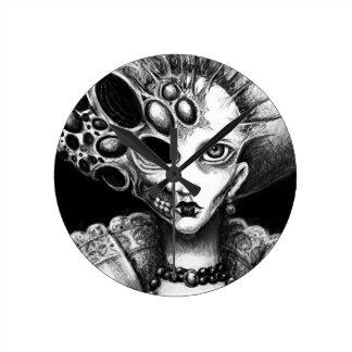 "Arte oscuro de ""Lizzy"" de Laura Moran Relojes De Pared"