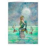 Arte pacífico de la fantasía de la sirena y de los tarjeta