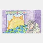 Arte pacífico del sueño pegatina rectangular