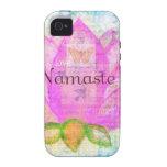 Arte pacífico ROSADO de Namaste LOTUS Case-Mate iPhone 4 Funda