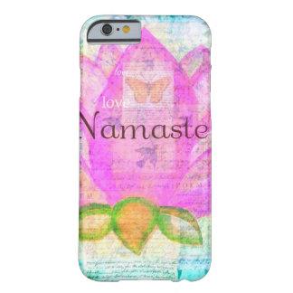 Arte pacífico ROSADO de Namaste LOTUS Funda De iPhone 6 Barely There