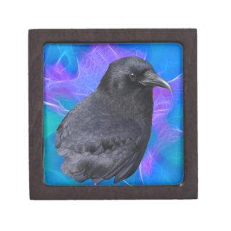 Arte pagano céltico del retrato místico del cuervo caja de regalo de calidad