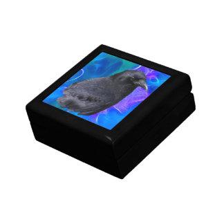 Arte pagano céltico del retrato místico del cuervo caja de regalo