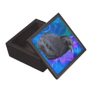 Arte pagano céltico del retrato místico del cuervo caja de recuerdo de calidad