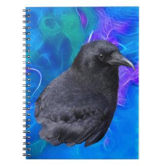 Arte pagano céltico del retrato místico del cuervo libro de apuntes