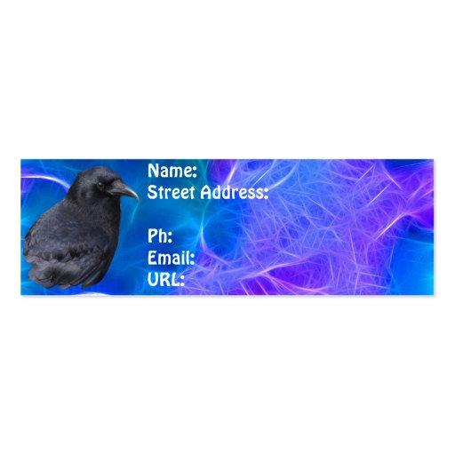 Arte pagano céltico del retrato místico del cuervo plantilla de tarjeta personal