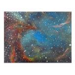 Arte Paintin del espacio de la nebulosa de la nube Postal